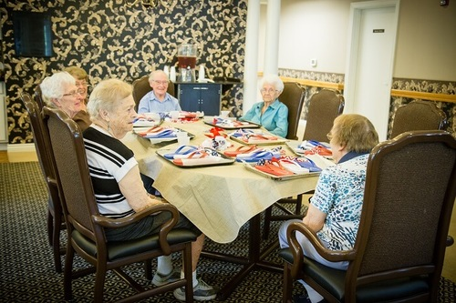Residents participating in an engaging group activity.
